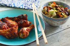A BBQ csirkeszárny már szerepel a blogon  itt , most is ugyanúgy készítettem, mint ahogy ott leírtam. De készülhetett volna akár ez a sz...