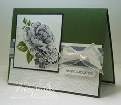 Stamps: Stippled Blossoms, Teeny Tiny Wishes  Paper: Always Artichoke, Whisper White, Wisteria Wonder, Elegant Eggplant  Ink: Always Artichoke, Lucky Limeade, Wisteria Wonder, Elegant Eggplant  Accessories: Whisper White Satin/Organza Ribbon, Delicate Designs Textured Impressions Folder, Word Window Punch