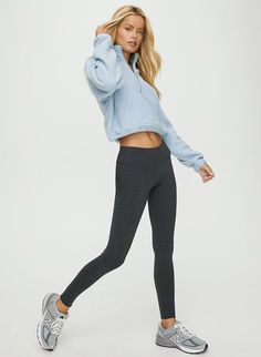 These are mid-rise leggings with a wide waistband for a smooth silhouette. Teenage Girl Outfits, Cute Comfy Outfits, Cute Outfits For School, Cute Casual Outfits, Teenager Outfits, Outfits For Teens, Simple Teen Outfits, Teenager Fashion, Summer Outfits