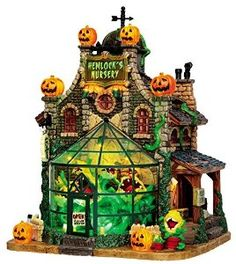 Amazon.com: Lemax Spooky Town Hemlock's Nursery with Adaptor # 45661: Home & Kitchen