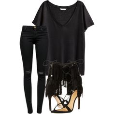 Untitled #315 by rhiannonkennedy on Polyvore featuring polyvore, fashion, style, H&M, J Brand and Schutz