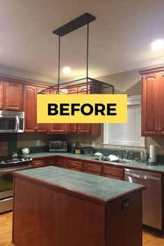 Do you love Joanna Gaines and Fixer Upper? Check out the before and after photos of this kitchen renovation on a budget. These white kitchen cabinets completely transform this old kitchen so check out this farmhouse kitchen makeover idea. #diy #farmhouse #kitchen #makeover Shaker Cabinet Doors, Rustic Kitchen Design, Kitchen Designs, Software, Old Coffee Tables, Kitchen Banquette, Faux Wood Beams, Old Kitchen, Kitchen Ideas