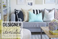 Paint and stencil your own designer-inspired pillows!