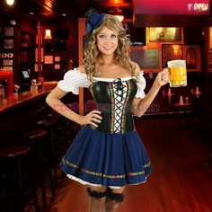 Better equipped kitchen with you and your company. Oktoberfest Costume, Oktoberfest Party, Munich Oktoberfest, Maid Outfit, Maid Dress, Octoberfest Girls, Beer Maid, German Costume, Dirndl Dress