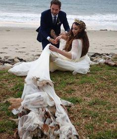 Troian Bellisario and Patrick J. Adams´ wedding. Congratulations!!