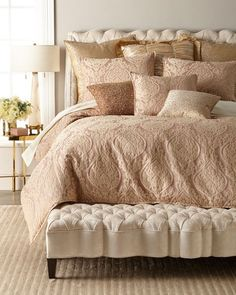 Shop king size bedding sets at Horchow. Browse our luxurious selection of king size duvet covers, sheets, comforters, and more. King Size Bedding Sets, Best Bedding Sets, Bedding Sets Online, Queen Bedding, Comforter, Bed Linen Design, Bed Design, Cosy Bedroom, Bedroom Decor