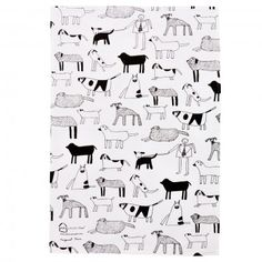 Art Hiuse Meath Dogs Tea Towel: A 100% cotton tea towel designed by the social enterprise Art House Meath. All images are created by adults living with severe epilepsy and learning difficulties.