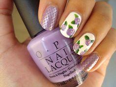 lovely purple nail polish!