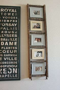 Good idea for using an old wooden ladder
