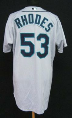 2003 Seattle Mariners Arthur Rhodes  53 Game Issued Gray Road Jersey - Game  Used MLB Jerseys by Sports Memorabilia.  170.33. 2003 Seattle Mariners  Arthur ... 066b0e56d