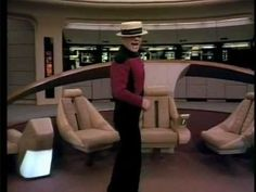 Picard sings! (This was never meant to be seen by the public. It was a birthday present for Gene Roddenberry. It was included on the Season 5 DVD as part of a tribute to Roddenberry, who died during the filming of Season 5.)