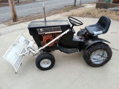 Vintage 1968 Sears Suburban 12 Lawn Garden Tractor with Snow Dirt Blade Running  #Sears