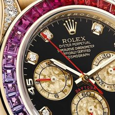 Take a look at a beautiful Daytona. Get the latest scoop on the new Rolex Daytona Rainbow Cosmograph, the newest addition to the Rolex family.