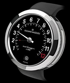 Giuliano Mazzuoli Contagiri, Limited Edition 999 Pieces, Stainless steel on rubber strap, Available at Cellini Jewelers