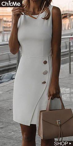 Chic Me: Women's Fashion Online Shopping - Work Dresses Mode Outfits, Fashion Outfits, Dress Fashion, Fashion Sandals, Party Fashion, Fashion Ideas, Fashion Inspiration, Böhmisches Outfit, Dress Outfits