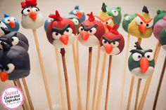 Sweet Cucas and Cupcakes by Rosângela Rolim: Pop Cakes Angry Birds