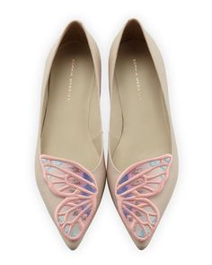 Bibi Butterfly Embroidered Flat by Sophia Webster at Neiman Marcus.