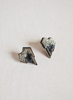 Lady Grey heart earrings