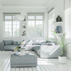 Si tienes un salón amplio, aprovecha y elige un sofá grande y cómodo. ¡No te arrepentirás! #decoracion #mobiliario #sofa #techoalto #salon http://elmercadodemaria.com/comprar-sofas/