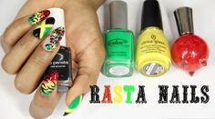 Rasta/Jamaican Nail Art