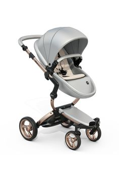 Mima Xari - Argento Seat, Sandy Beige Starter Pack | The only stroller made with leatherette fabric, the Mima Xari is more than a pretty face. With a chic design and advanced features, this highly-customizable stroller strikes the perfect balance of fashion and functionality.
