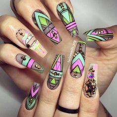144 отметок «Нравится», 8 комментариев — Healthier Nails, Healthier You (@bioseaweedgelnailart) в Instagram: «@helennails_yeg did such an amazing job with this set! She used #BSGLuckyCharm, #BSGKandiYamz &…»