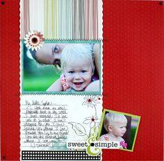 Sweet & Simple Enchanted Scrapbooking Layout