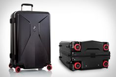 No matter how durable your luggage's body, it's only as strong as its weakest point. That's quite often the wheels. Which is why Heys Stealth Luggage features aluminum wheels that stow away when not in use. Not only does this...