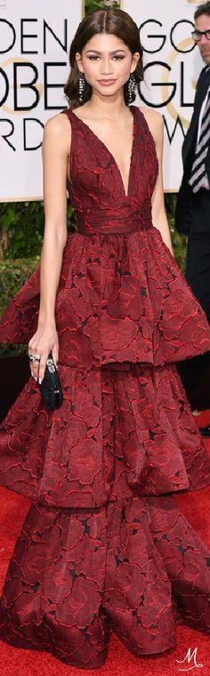 2016 Golden Globes Red Carpet Arrivals   Zendaya in Marchesa