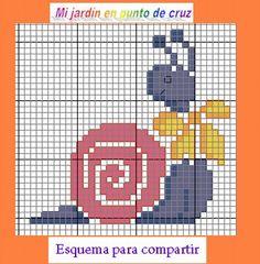 http://blog.enfemenino.com/blog/seeone_390975_7756260/Mi-JARDiN-EN-PUNTO-DE-CRUZ/CARACOLiTO