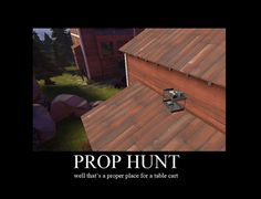 I started playing a PC game called Garry's Mod: Prop Hunt this summer. It's hilarious if anyone wants to play me my name is MaskedTiger
