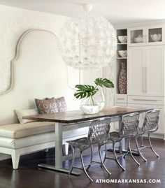Love A Settee At The Dining Table I Think Using A Settee Would Be