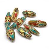 Handmade Tibetan Style BeadsTIBEB-G009-M  lots of nice tibetan beads
