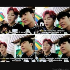 Jimin and J-Hope doing a reaction video on their own MV o.O