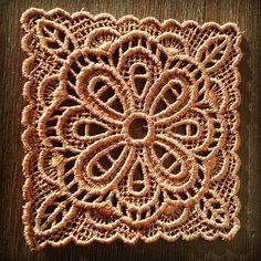 Embroidered doily by JennyJeshko. Suitable under wine glass.  #jennyjeshko #handmade #homedecor #embroidery #wine