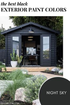 These black homes will inspire you to paint your home in a trendy modern black finish. Check out the best black paint colors for your home's exterior. Best House Colors Exterior, Exterior Paint Color Combinations, Best Exterior Paint, Modern Color Schemes, Exterior Color Schemes, House Paint Exterior, Exterior Paint Colors, Black Accent Walls, Dark Paint Colors