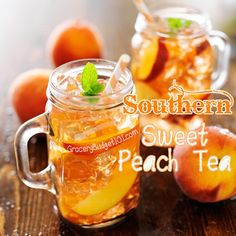 om our young peach tree and came up with this amazingly refreshing sweet tea variation. You'll Need: 4 large peaches 4 family size tea...
