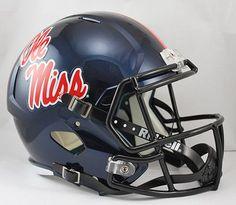 Mississippi Rebels Riddell Deluxe Replica Speed Helmet