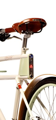 Rear lights and on switch: This bike has it all and appears in the book Fifty Bikes that changes the World.