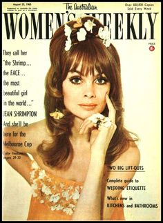 Jean Shrimpton, cover Australian Women's Weekly, August 25, 1965