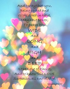 ❥ Ephesians 3:16-19~ How deep the Father's love for us!