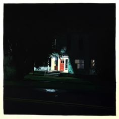 Daylight savings time is rolling up on us fast, and these nocturnal paintings by Christopher Burk are helping me get. American Realism, Daylight Savings Time, Nocturne, Small Towns, Empire State Building, Landscape Paintings, Fair Grounds, Retro, Bakery