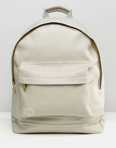 353821c4b3fd Mi-Pac Tumbled Backpack in Faux Leather. Grey BagsCute ...