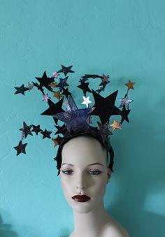 Cosmos Headdress - Sparkling, Glittery, Leather Star Burlesque Headdress by Mascherina https://www.etsy.com/listing/279211716/cosmos-headdress-sparkling-glittery?ref=shop_home_active_19