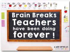 Teachers have been doing brain breaks forever! But when the shift to a more rigorous classroom started we eliminated many of them as they were not seen as being academic enough! So here is a some old school activities we used to do that are brain breaks that you can do in your classroom!
