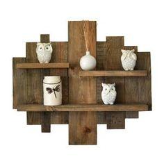 Rustic Wall Shelves, Pallet Wall Shelves, Diy Pallet Wall, Reclaimed Wood Shelves, Wall Shelf Decor, Wood Floating Shelves, Wood Wall Shelf, Rustic Walls, Hanging Shelves