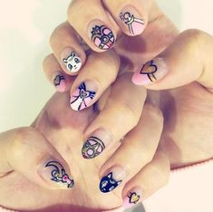12 Sailor Moon Nail Designs To Let Out Your Inner Moon Prism Power