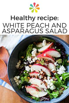 Delicate white peaches are less acidic than yellow peaches and are always sweet, no matter the firmness. This makes them ideal for summer salads like this White Peach and Asparagus Salad from The Year in Food. #healthyrecipes #everydayhealth | everydayhealth.com