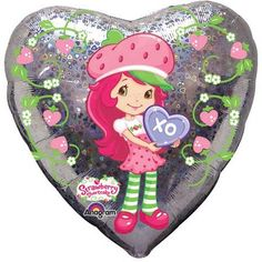 Strawberry Shortcake Mylar Balloon Party Supplies 18 Inch holographic pink and green * Visit the image link more details.