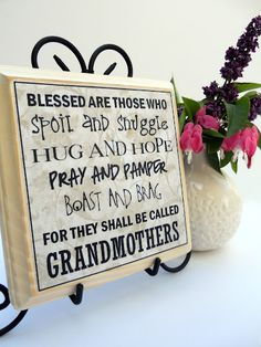 Love this idea for mothers day or grandmas birthday